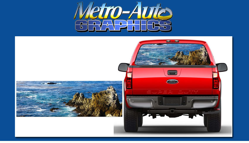 Buy Blue Sea Rear Window Truck Graphic Tint Fits Ford