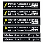 Power Assisted Bicycle Decal Fits Motorized Bicycles-1